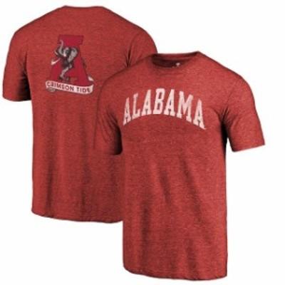 Fanatics Branded ファナティクス ブランド スポーツ用品  Fanatics Branded Alabama Crimson Tide Heathered Crimson Vault Two Hit Arc