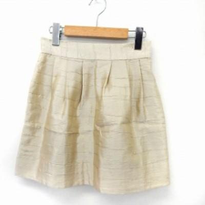 【中古】デイシー deicy スカート ミニ フレア バックジップ シンプル 1 ベージュ /ST9 レディース
