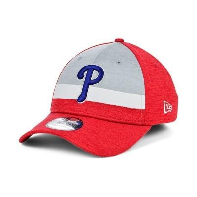 ニューエラ 帽子 アクセサリー メンズ Men's Philadelphia Phillies Striped Shadow Tech 39THIRTY Cap Red
