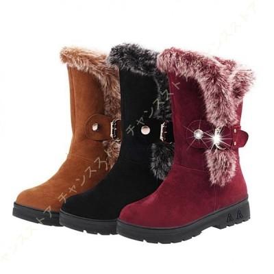 シューズ 防寒靴 冬靴 レディース スノーブーツ スノーシューズ 裏起毛 防水 防滑 可愛い ふわふわ 疲れにくい 厚底 ブーティ ウィンターブーツ おしゃれ 短靴