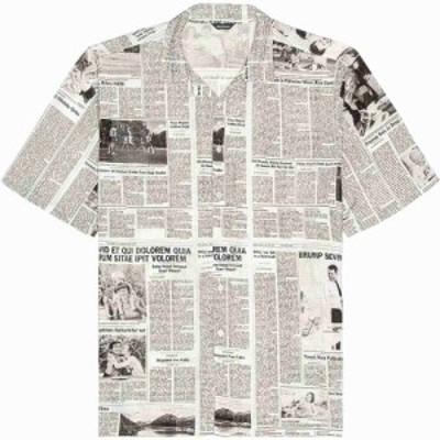 バレンシアガ Balenciaga メンズ シャツ トップス Sports Shirt White/Black
