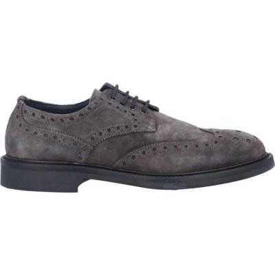 PIUMI メンズ シューズ・靴 laced shoes Steel grey
