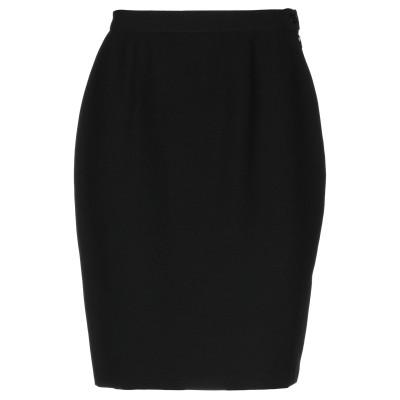 ブルマリン BLUMARINE ひざ丈スカート ブラック 38 アセテート 48% / ウール 43% / レーヨン 9% ひざ丈スカート