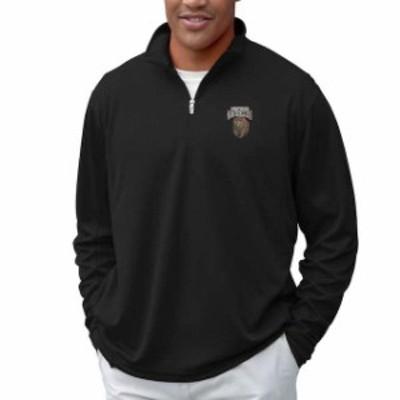 Vantage Apparel バンテージ アパレル スポーツ用品  Montana Grizzlies Black Vansport Mesh Quarter-Zip Tech Pullover