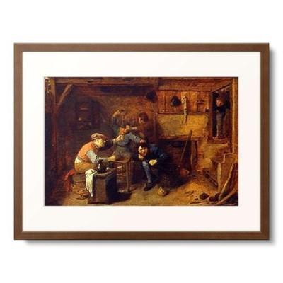 アドリアーン・ブラウエル Adriaen Brouwer 「Brawling card players at an inn.」