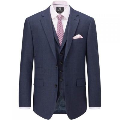 スコープス Skopes メンズ スーツ・ジャケット アウター Balthazar Wool Check Suit Jacket Navy