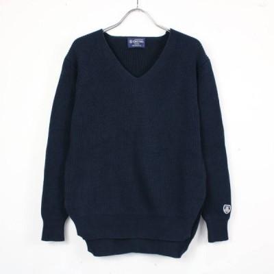 【美品】ORCIVAL / オーチバル | コットンリブニットVネックセーター | 1 | ネイビー | O803012-P-f86045d53c70c1c