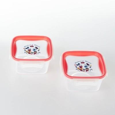 ディズニー 食洗機・電子レンジ対応フタ付き保存容器同サイズ2個セット 「ミッキー&ミニー」