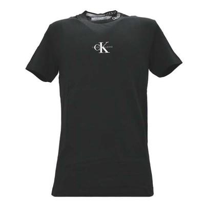 カルバンクラインジーンズ Tシャツ メンズ CENTER MONOGRAM TEE J30J315878 BAE サイズS ブラック
