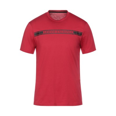 ARMANI EXCHANGE T シャツ レッド S コットン 100% T シャツ