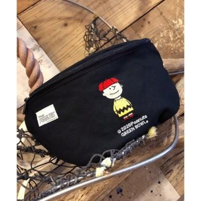 バッグ ウエストポーチ SNOOPY Canvas Body Bag(CHARLIE BROWN)/スヌーピー キャンバス ボディバッグ