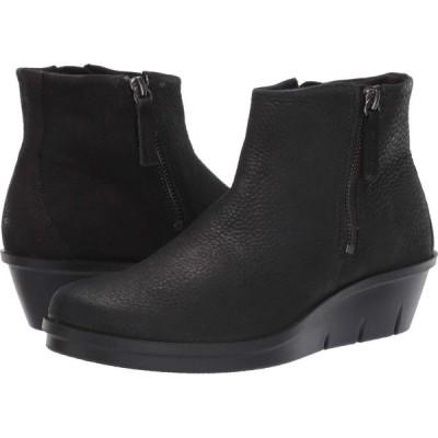 エコー ECCO レディース ブーツ シューズ・靴 Skyler Side Zip Bootie Black Cow Nubuck