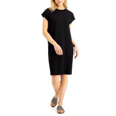 エイリーンフィッシャー レディース ワンピース トップス Relaxed Cap-Sleeve Dress