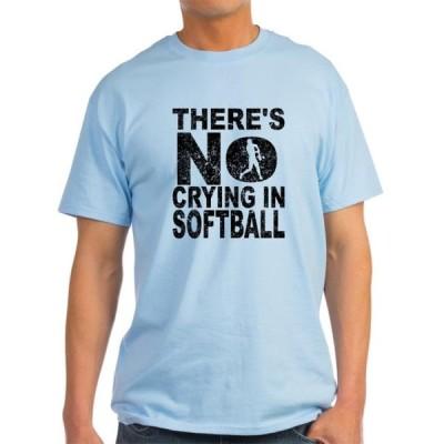ユニセックス 衣類 トップス CafePress - There's No Crying In Softball T Shirt - Light T-Shirt - CP Tシャツ