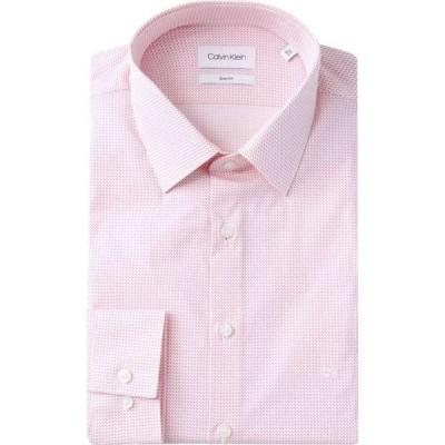 カルバンクライン Calvin Klein Tailoring メンズ シャツ トップス slim fit printed shirt Pink