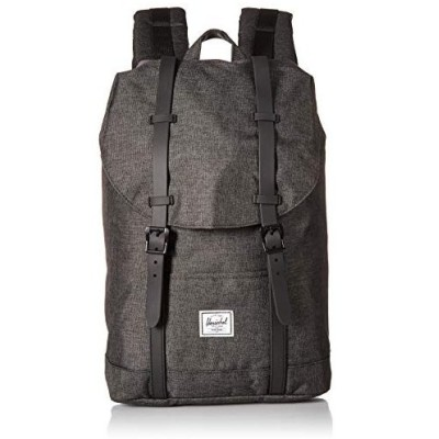 Herschel Retreat Backpack, Black Crosshatch/Black Rubber, Classic 並行輸入品