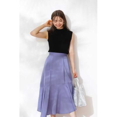 PROPORTION BODY DRESSING/プロポーションボディドレッシング  ◆イレヘムサテンスカート ダスティブルー1 M
