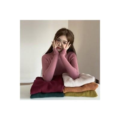 【送料無料】秋冬 韓国風 何でも似合う 単一色 ハング条 着やせ 着やせ ニット 女 | 346770_A64291-6831770