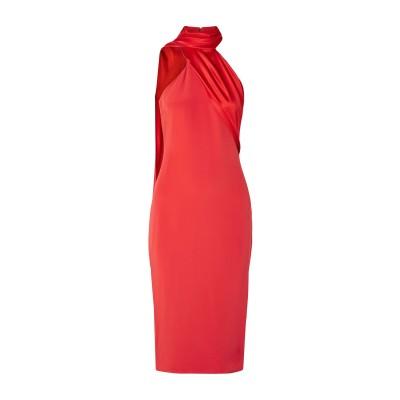 クシュニー・エ・オクス CUSHNIE 7分丈ワンピース・ドレス レッド 10 シルク 100% 7分丈ワンピース・ドレス