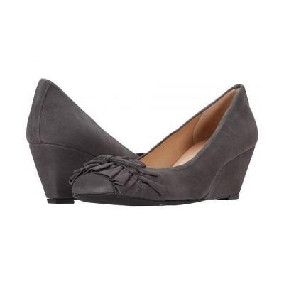 French Sole フレンチソール レディース 女性用 シューズ 靴 ヒール Brie - Grey Suede