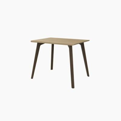 送料無料 ダイニングテーブル (W900 天板:ピーチ 脚:ウォールナット) - CROSS