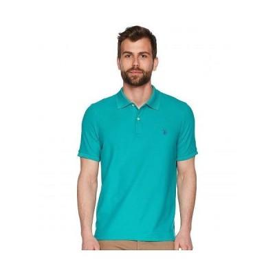 U.S. POLO ASSN. USポロ メンズ 男性用 ファッション ポロシャツ Ultimate Pique Polo Shirt - Island Jade