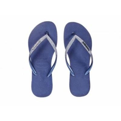 Havaianas ハワイアナス レディース 女性用 シューズ 靴 サンダル Slim Sparkle Flip-Flop Navy/Blue【送料無料】