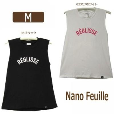 レディース 後リボン タンクトップ M 9号 02オフホワイト 03ブラック 258563 Nano Feuille ナノフィーユ 女性 婦人 トップス 袖なし