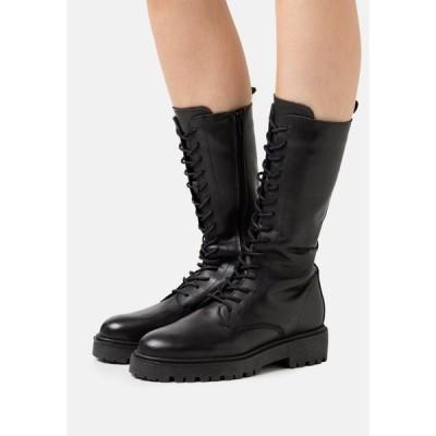 ジン ブーツ&レインブーツ レディース シューズ Lace-up boots - black