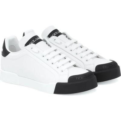 ドルチェ&ガッバーナ Dolce & Gabbana レディース スニーカー シューズ・靴 Portofino Leather Sneakers White/Black