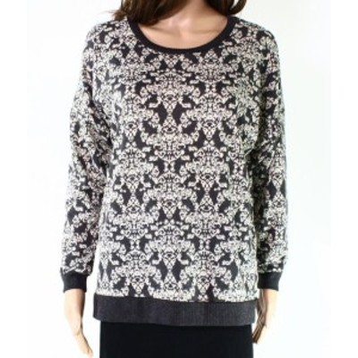 Nicole ニコール ファッション トップス Leo & Nicole NEW Gray Ivory Womens Size Large PL Petite Pullover Sweater