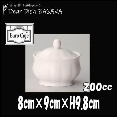 カナリーライン シュガー 白 シュガーポット砂糖入れ カフェ食器 陶器磁器 おしゃれな業務用食器