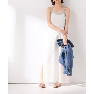 【イエナ】 LAYERD CAMI DRESS ワンピース レディース ホワイト フリー IENA