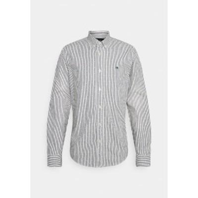 スコッチアンドソーダ メンズ シャツ トップス REGULAR FIT STRIPED OXFORD - Shirt - grey grey