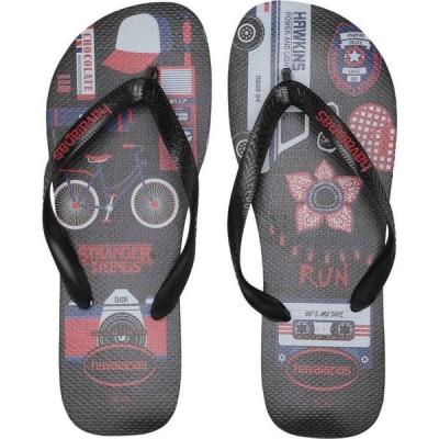 ハワイアナス Havaianas メンズ ビーチサンダル シューズ・靴 Top Stranger Things Sandal Black