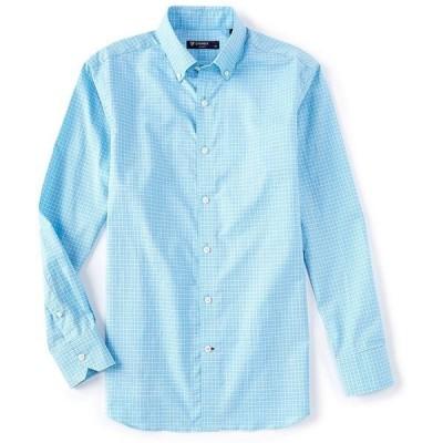 クレミュ メンズ シャツ トップス Dobby Check Long-Sleeve Woven Shirt Norse Blue