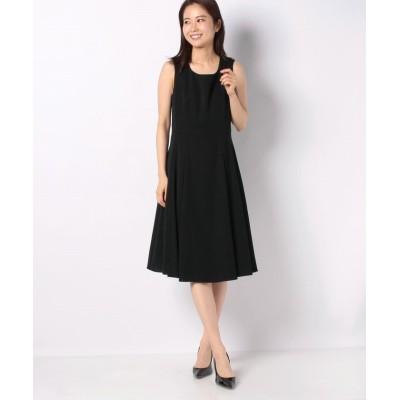 【ミス ジェイ】 ドビークロス ドレス レディース ブラック 40 MISS J
