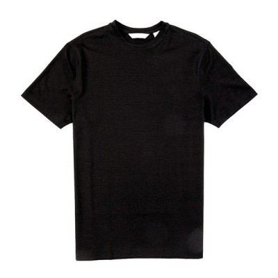 クレミュ メンズ Tシャツ トップス Daniel Cremieux Signature Solid Textured Crew Neck Short-Sleeve Tee Black