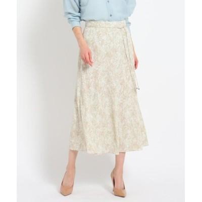 【洗える】パイソンジョーゼットフレアスカート