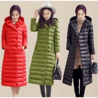 ダウンコート 超ロング レディース ダウンジャケット アウター フード付き 軽量 冬服 セール