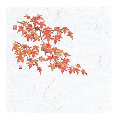4寸 OP懐石敷紙 100枚入 紅葉(10月〜11月) [ 約12 x 12cm ] 【 懐紙 】 | 旅館 料亭 ホテル 宴会 懐石 和食 イベント 業務用