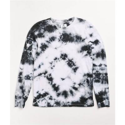 ジン ZINE レディース 長袖Tシャツ トップス monroe black & white tie dye long sleeve t-shirt Black