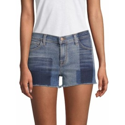 J ブランド レディース パンツ 1044 Mid-Rise Two-Tone Denim Shorts