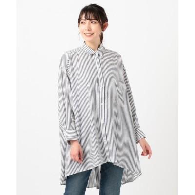 【シェアパーク】 フレアチュニックシャツ レディース ブラック系1 1 SHARE PARK
