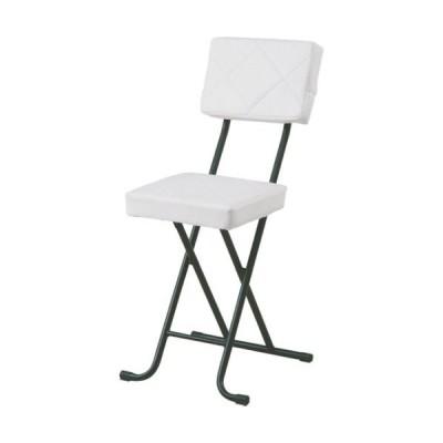 4個セット 4個組 キルト ホワイト デスクチェア スツール 折りたたみチェア 折りたたみ椅子 パーソナルチェア 折りたたみ 折り畳み 椅子 チェア