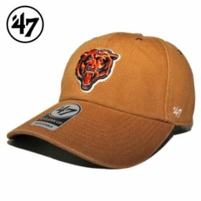 47ブランド カーハート コラボ ストラップバックキャップ 帽子 メンズ レディース 47BRAND CARHARTT NFL シカゴ ベアーズ フリーサイズ [
