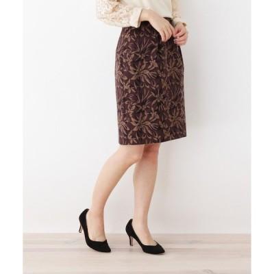 スカート 花柄コクーンスカート