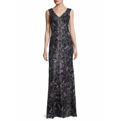 タダシショウジ レディース ワンピース Cord Tulle Floor-Length Gown