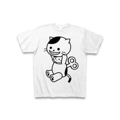元気チャージ完了!着ぐるみバイトねこ Tシャツ(ホワイト)