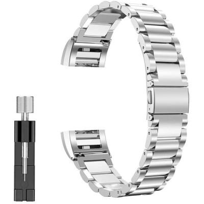Leetoyi バンド適応 Compatible for Fitbit Charge 4/Charge 3/Charge 3 SE 金属ステンレス製の